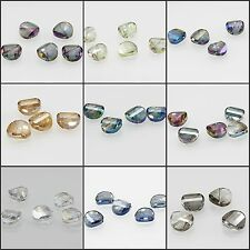 New 5pcs 15mm Round Faceted Cut Glass Crystal Loose Spacer Beads Beautiful color