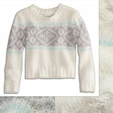 NWT 77kids by American Eagle Girls Size 4 Years Fair Isle Long Sleeve Sweater 4T