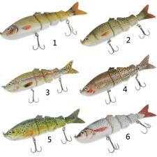 Multi Jointed Hard Spinning Carp Bass Fishing Lures Fish Bait with 2 Tackle Hook