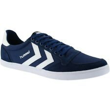 Hummel Slimmer Stadil Canvas Lo Trainers - Dress Blue / White