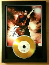 PRINCE - SIGNED PHOTO  - WITH YOUR CHOICE OF GOLD DISC....
