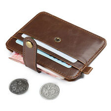 Hot Men Mini Leather Wallet Credit Card ID Card Holder Purse Money Clip Vintage