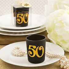 Big Fifty candle votive from PartyFairyBox - Anniversary Favors / FC-5487
