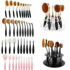 10 x Toothbrush Power Foundation Blending Oval/Circle/Linear Puff Makeup Brushes
