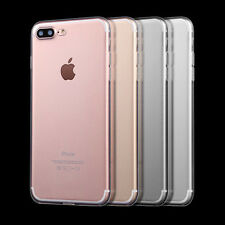 For iPhone 7/7 Plus Ultra Thin Slim Silicone Soft Skin Cover Clear TPU Back Case