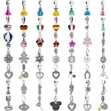 925 European sterling pendant  silver dangle charms bead For bracelet chain CA