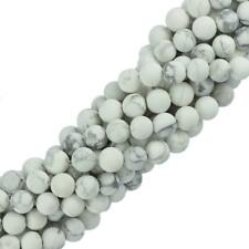 "Howlite Turquoise Round Gemstone Loose Beads 15"" Strand Jewelry Making 6mm 8mm"