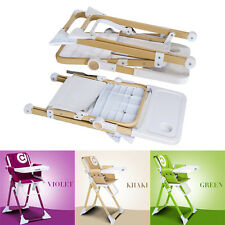 Yes Unisex Kid Home Reclining Infant Baby Toddler Feeding Highchair 3 Color Y2R3
