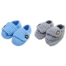 Warm Handmade Crochet Knitted Shoes Baby Boy Girl Infant Pre-Walker Xmas Gifts