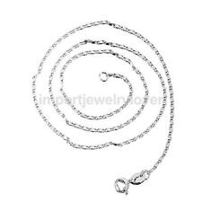 Lovely 925 Sterling Silver 1mm White Gold Snake Chain Necklace for Any Pendant
