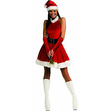 Mrs Santa Claus Outfit Costume Adult Deluxe Christmas Dress Classic Red Holiday