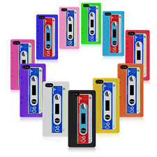 iPhone 5 Retro Cassette Design Silicone Case Cover + Free Screen Protector