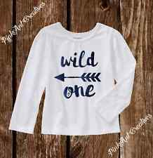 Sparkle Wild One - Boho Long Sleeve Tshirt 2T-5T Toddler Girl Clothes Outfit
