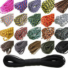 HOT 550 Paracord Parachute Cord Lanyard Mil Spec Type III 7 Strand Core 100 SM