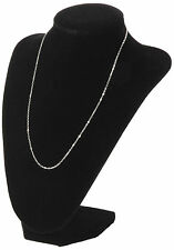 Black Velvet Necklace Pendant Chain Link Jewelry Bust Display Holder Stand YK
