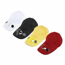Summer Sport Outdoor Hat Cap with Solar Sun Power Cool Fan For Cycling FJ