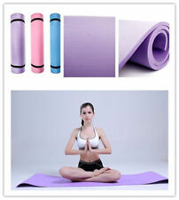 """BLUE 6mm Thick Non-Slip Yoga Mat Exercise Fitness Lose Weight 68""""x24""""x0.24""""  AA"""
