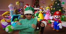 Christmas Hats, Super Mario Bros, Christmas Gift, Children and Adult Hats.