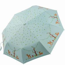 Auto Open Close Wind-resistant Compact Folding UPF 50+ Sun Protect Rain Umbrella