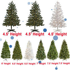 Christmas Holiday New Year 4' 4.5' 6' 6.5' 7' 7.5' Pre-Lit Artificial Tree Light
