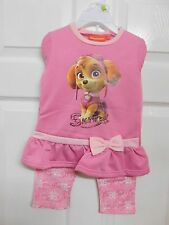 BRAND NEW PAW PATROL SKYE 2 PIECE TOP AND LEGGINGS OUTFIT SET GIRLS FREE POSTAGE