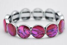 Abalone Paua Shell Round Shape Stretchy Fashion Bracelet