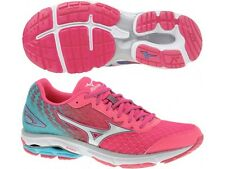 WOMENS MIZUNO WAVE RIDER 19 'PINK' RUNNING SHOES - ALL SIZES  - SAVE $100