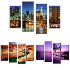 4 Pcs Frameless Painting Pictures Freehand Sketching Room Art Decor Grand