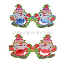 Light-Up Santa Clause Glasses LED Flashing Blinking Sunglasses Rave Xmas Party