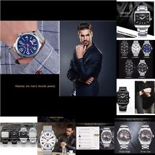 CURREN Waterproof Men Fashion Luxury Stainless Steel Big Dial Quartz Wrist Watch
