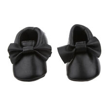 Baby Infant Soft Sole PU Leather Shoes Bowknot Girl Toddler Crib Christmas Gift