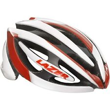 Lazer Genesis Helmet GS Performance Road Bike Race Cycling Rollsys White / Red