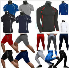Men's Compression Base Layer Tights Tops Under Skins T-Shirts Shorts Pants Y22