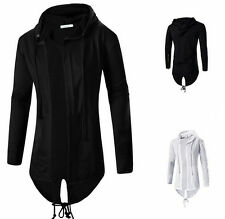 Fashion Korean mens cloak casual jacket long Sweater Hooded cardigan coat