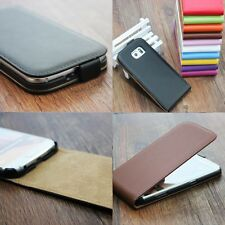 Genuine Real Leather Skin Phone Case For Sony Xperia Series Vertical Flip Cover