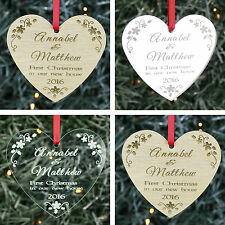 Personalised 1st First Christmas in our New Home Tree Decoration Ornament Bauble