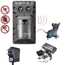 Electronic Ultrasonic Pest Control Repeller Rat Mosquito Mouse Insect Rodent New