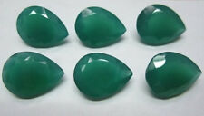 5x3mm - 18x13mm Natural Green Onyx Faceted Cut Pear Top Quality Loose Gemstone