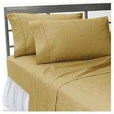100%Egyptian Cotton Taupe Solid Bedding Items-Sheet Set/Duvet/Fitted 1000TC