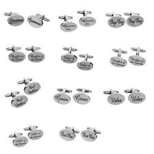Stylish Mens Shirt Cufflinks Oval Silver Cuff Links Accessories