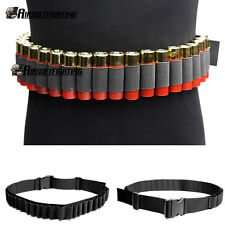 Hunting 29 or 25 Shells 12 20 24GA Shotgun Ammo Belt Shoulder Bandolier Pouch BK