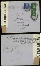 GB 1940 censor cover to Ma US missent Marblehead
