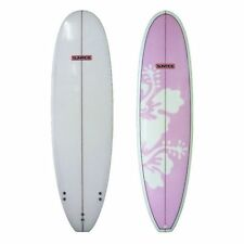 Sunride Surfboard Mal Pink Hibiscus Beginners to Advanced Fun includes FCS fins