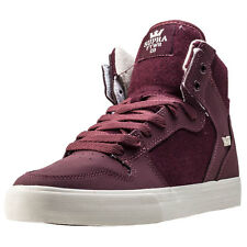 Supra Vaider Mens Trainers Burgundy White New Shoes