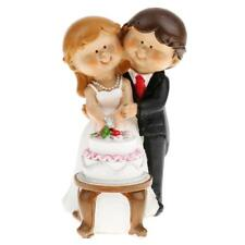 1PCS Romantic Wedding Birthday Bride and Groom Cartoon Cake Topper