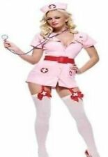 Ladies Naughty Nurse Costume Uniform Outfit A&E Fancy Dress Halloween Hen Party