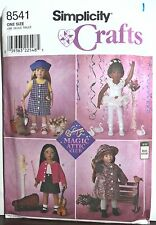 "(5) 18"" American Girl/Boy Type Doll Clothes Simplicity Sewing Patterns Uncut"