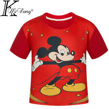 Lovely Short Sleeve T-Shirt Cartoon Tees Kids Girls Boys Mickey Mouse Unisex Top