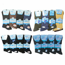 12x New Mens Non Elastic Diabetic Big Foot Gentel Grip Everyday Socks Size 11-14