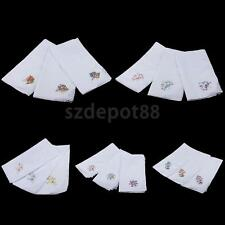 12pcs Vintage Cotton Handkerchief Embroidery Lace Hanky Hankies for Women Ladies